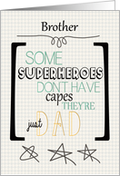 Happy Father's Day to Brother Superhero Word Art card