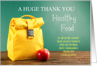 Thank You to School Food Service Workers During Covid-19 card