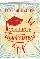College Graduation Congratulations Colorful Word Art card