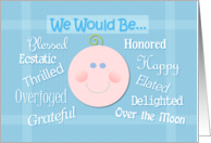 Will You Be Our Baby's Godparents Whimsical Request card