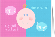 Baby Gender Reveal Party Invitation Girl or Boy? card