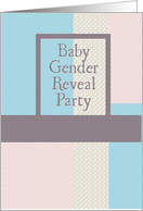 Baby Gender Reveal Party Invitation card