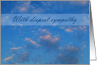 With Deepest Sympathy - Sky card