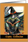 Witch, Happy halloween card