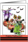 Witches and Pumpkins, Happy Halloween card