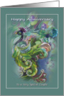 Happy Anniversary, Peacock Design, for Special Couple card
