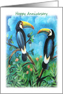 Happy Anniversary, Cute toucans card