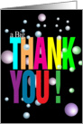 A Big Colorful Thank You card