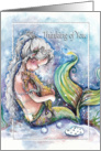 Thinking of You, Mermaid and Sea Dragon card