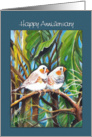 finches, Anniversary card