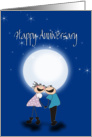Happy Anniversay, cute couple card