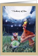 Thinking of You, faery and firefly card