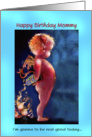 Happy Birthday Mommy,Whimsical Devil Art card