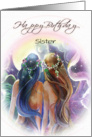 Sister Birthday, Mermaid Themed ART card