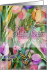 Easter Tulips & Butterflies for Daughter card