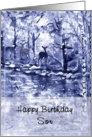 Blue Deer Art, Birthday to Son card