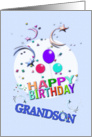 Shooting Stars, Grandson Birthday card