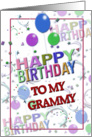 Colorful Birthday to Grammy card