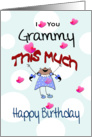 Little Girl, to Grammy, Happy Birthday card