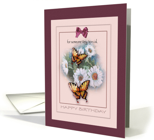Birthday for Someone Special , Butterflies and Daisies card (948691)