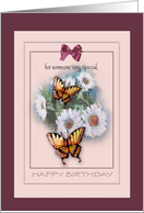Birthday for Someone Special , Butterflies and Daisies card