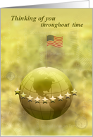 Throughout Time - Gold Star Mother's Day card