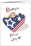 Heart of Stars and Stripes - First July 4th card