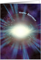 Beams of Light - Happy Birthday card