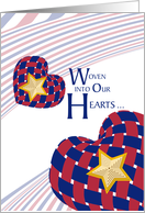 Woven Hearts - Gold Star Mother's Day card