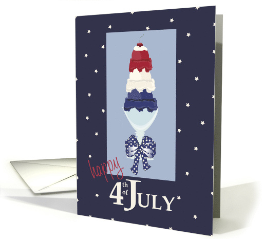 Red, White, Blue Scoops - Happy Fourth of July card (1383174)