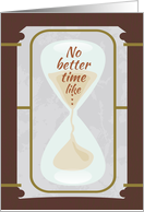 Hourglass - Happy Boss's Day card