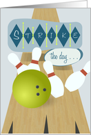 Bowling Lane - Father's Day card