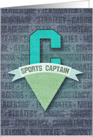 Sports Captain Pennant - Congratulations card