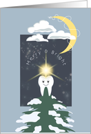 Tooth Tree Topper - Christmas Dental Industry card