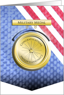 Military Medal - Congratulations on Award card