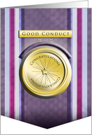 Good Conduct Military - Congratulations on Award card
