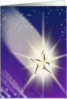 Gold Star Mother's Day - Shooting Star card