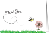 Thank You... (bumble bee and flower) card