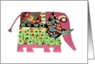 Pink Elephant Designs Blank Any Occasion card