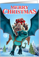 The Christmas Dragon Movie - Dragon and Friends card