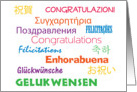 Congratulations in Many Languages Card