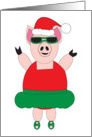 Christmas Ballet Pig card