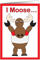 Canada Day Moose card