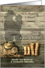 Bridal Shower Invitation Customized for a Cowgirl and her Cowboy card