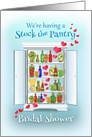 Stock the Pantry Bridal Shower Invitation, Cupboard Full of Goodies card
