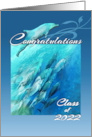 Congratulations Class of 2020, Blue School of Dolphins for Graduate card