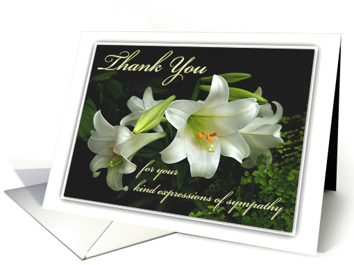 thank you for your sympathy white lilies thanks for