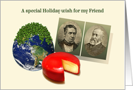 To My Friend, Funny Holiday, Funny Christmas Card, Peas on Earth card