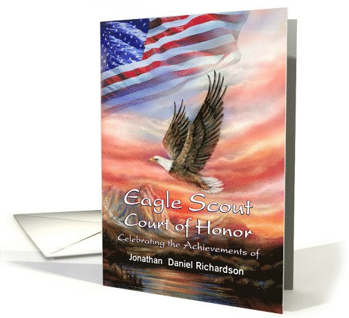 Eagle Scout Court of Honor Program, Add Name to Custom Front card