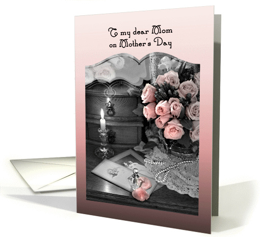Happy Mother's Day from Daughter, Pink Roses and Vintage Photos card